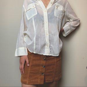 Liz Claiborne Sheer Buttoned Blouse
